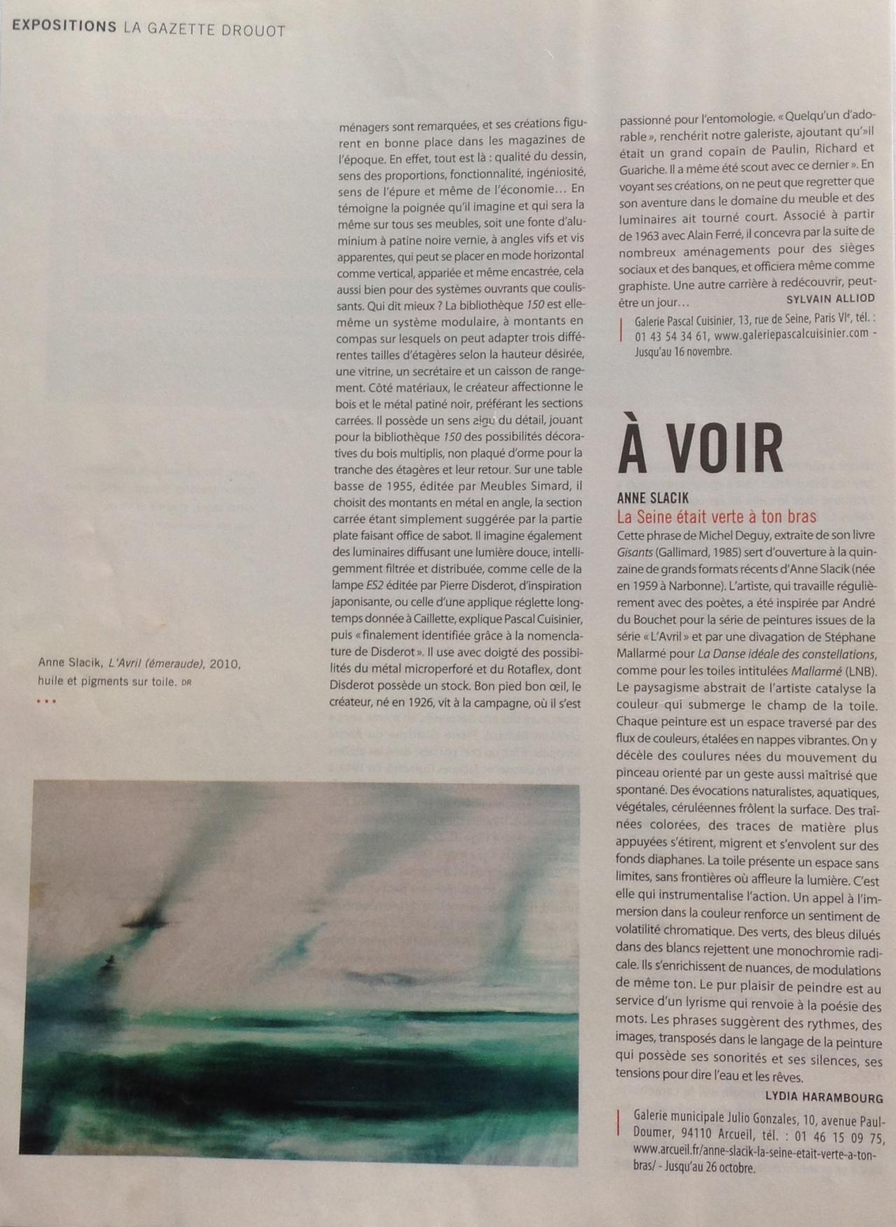 Anne Slacik Coupures de Presse