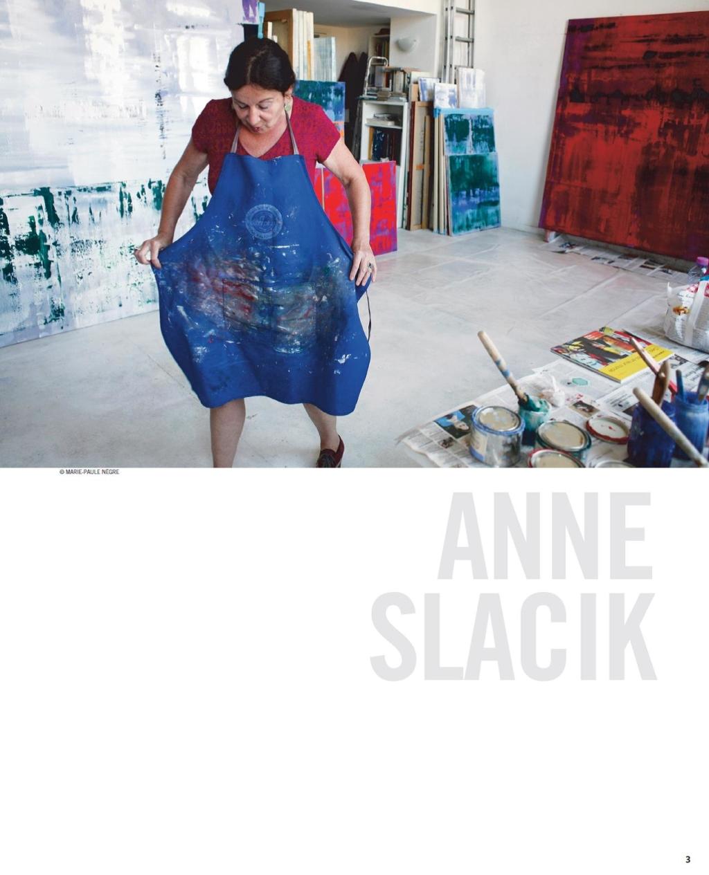 Anne Slacik Claudine Boni, Dans L'atelier  – Article