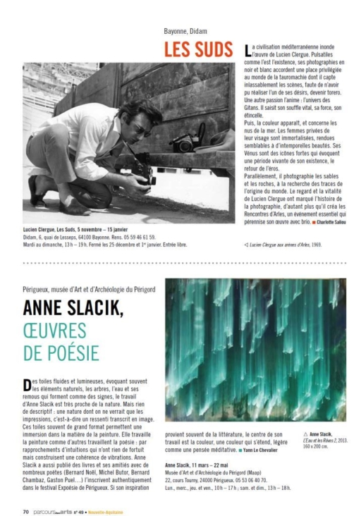 Anne Slacik Yann Le Chevalier  – Article
